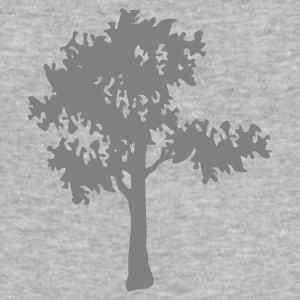 Grå meleret Baum / tree (1c) Sweatshirts - Herre Slim Fit T-Shirt