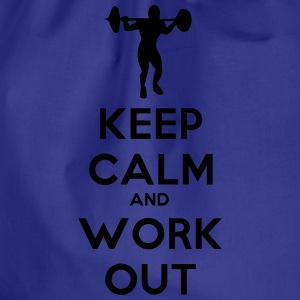 keep calm and workout t-shirt - Turnbeutel