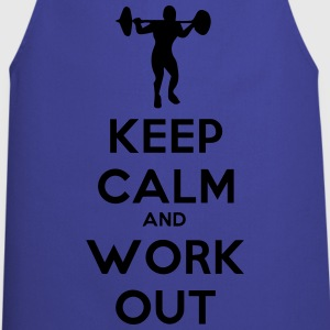 keep calm and workout - Cooking Apron