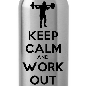 keep calm and workout t-shirt - Trinkflasche