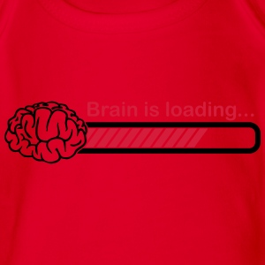 brain is loading Shirts - Organic Short-sleeved Baby Bodysuit