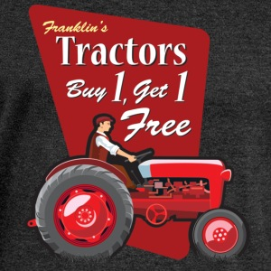 Franklin's Tractors - Women's Boat Neck Long Sleeve Top
