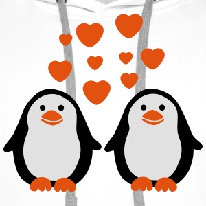 Penguins in Love T-Shirts - Männer Premium Hoodie