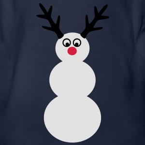 snowman winter Shirts - Organic Short-sleeved Baby Bodysuit
