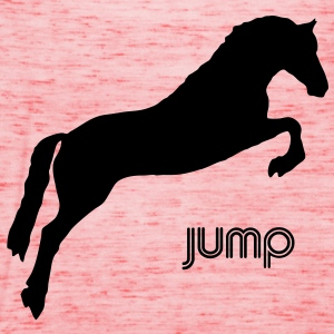 Jumping Horse T-Shirt - Women's Tank Top by Bella