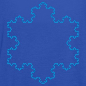 Fractals: Koch snowflake HI-DETAIL (lines) T-Shirts - Women's Tank Top by Bella