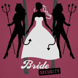 JGA - Bride security - Bride - Team - Teufel 2C T-Shirts - Men's Premium Hoodie