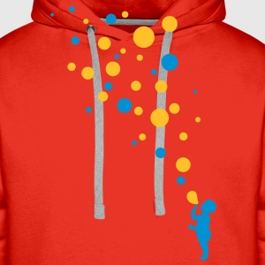 Love color bubbles Tee shirts - Sweat-shirt à capuche Premium pour hommes