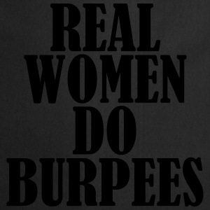 Real Women Do Burpees Camisetas - Delantal de cocina