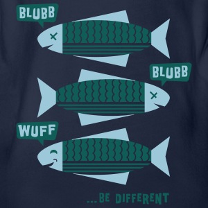 Be Different - Fische - Blubb - Be yourself - 2C T-Shirts - Baby Bio-Kurzarm-Body