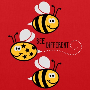 Be different - be yourself - Biene - Bee - 3C T-Shirts - Stoffbeutel