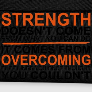 Strength comes from Overcoming Camisetas - Mochila infantil