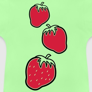 three cool fruity strawberries down Shirts - Baby T-Shirt