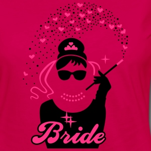 Bride - Braut - JGA - Security - Tiffany - Herz -2 T-Shirts - Women's Premium Longsleeve Shirt