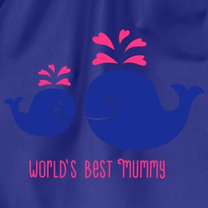 Wal - Mama - Kind - Fisch - worlds best mummy - 2C T-Shirts - Turnbeutel