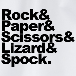 Rock Paper Scissors Lizard Spock T-shirts - Gymtas