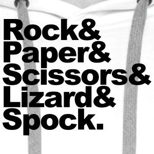 Rock Paper Scissors Lizard Spock Tee shirts - Sweat-shirt à capuche Premium pour hommes