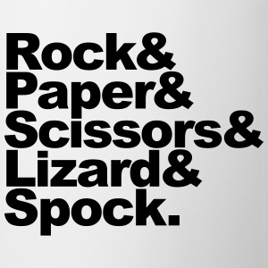Rock Paper Scissors Lizard Spock Magliette - Tazza