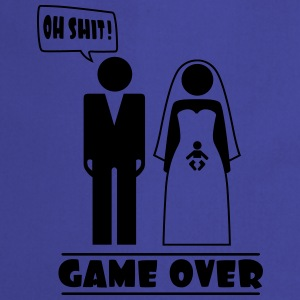 Wedding with baby inside - oh shit - game over T-shirts - Förkläde