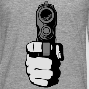 gun - i shoot you T-shirts - Långärmad premium-T-shirt herr