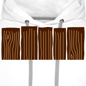 Wood Fence Tee shirts - Sweat-shirt à capuche Premium pour hommes