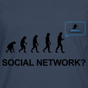 Darwin Evolution of social network - Camiseta de manga larga premium hombre