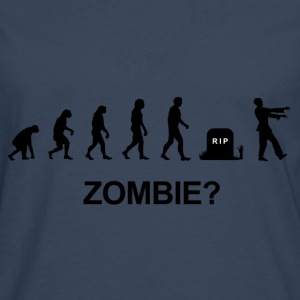 Darwin Evolution and zombie - Camiseta de manga larga premium hombre