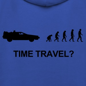 Darwin evolution of time travel Back to the future - Bluza dziecięca z kapturem Premium