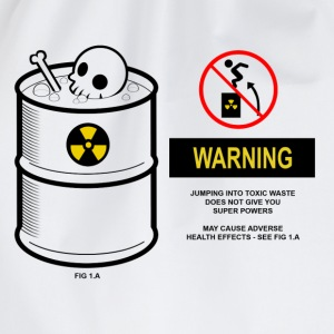Warning toxic waste - Drawstring Bag