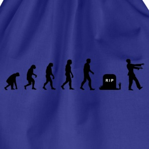 Darwin Evolution and zombies - Drawstring Bag