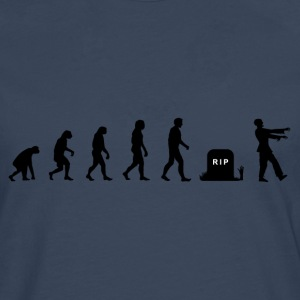 Darwin Evolution and zombies - Camiseta de manga larga premium hombre