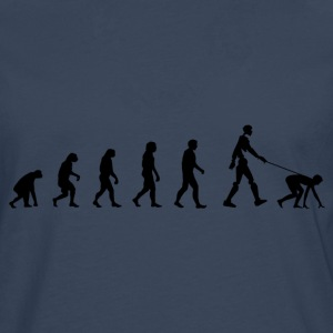 Darwin Evolution and robot - Långärmad premium-T-shirt herr