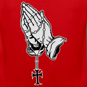Praying Hands mit Rosenkranz T-Shirts - Men's Premium Tank Top