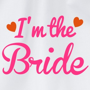 I'm the BRIDE cute little hearts T-Shirts - Drawstring Bag