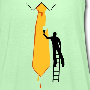 Painter on a ladder and tie - Women's Tank Top by Bella