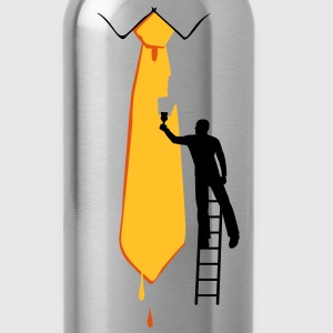Painter on a ladder and tie - Water Bottle