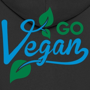 go vegan T-Shirts - Men's Premium Hooded Jacket