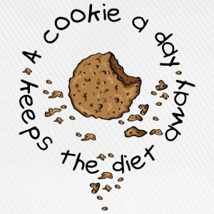 A cookie a day, keeps the diet away T-skjorter - Baseballcap