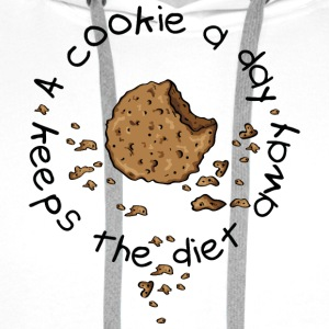 A cookie a day, keeps the diet away T-skjorter - Premium hettegenser for menn