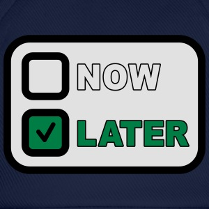 Now Later T-shirts - Basebollkeps
