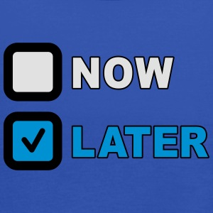 Now Later Question T-Shirts - Women's Tank Top by Bella