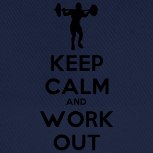 keep_calm_and_workout T-shirts - Basebollkeps