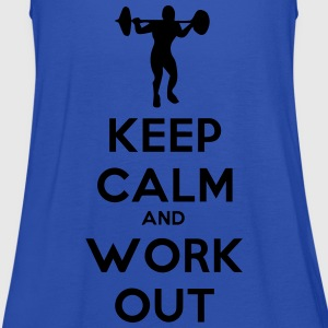 keep_calm_and_workout T-shirts - Tanktopp dam från Bella