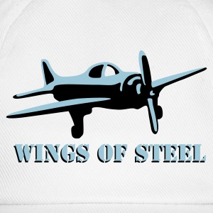wings_of_steel_2c T-skjorter - Baseballcap