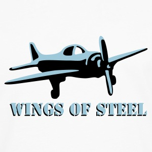 wings_of_steel_2c Camisetas - Camiseta de manga larga premium hombre