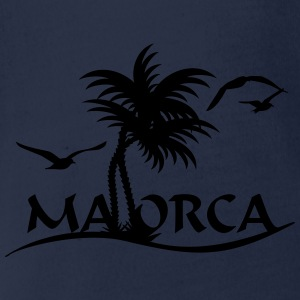 Mallorca-Palmen / Mallorca with palm trees (1c) T-Shirts - Baby Bio-Kurzarm-Body