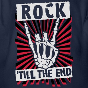rock 'till the end Shirts - Organic Short-sleeved Baby Bodysuit