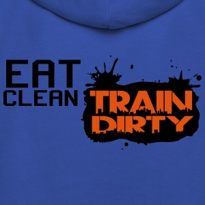 Eat clean - train dirty T-shirts - Premium-Luvtröja barn