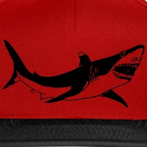 T shirt requin Blanc - Casquette snapback