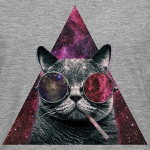 Hipster Cat Smoking Tee shirts - T-shirt manches longues Premium Homme